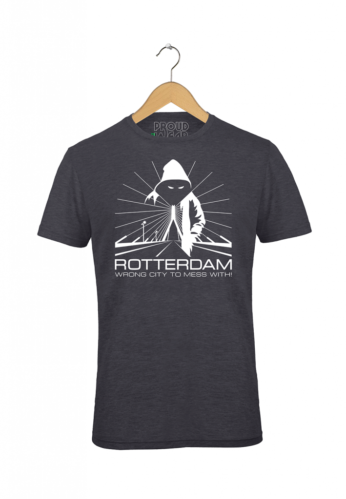 "Rotterdam T-shirt ""Rotterdam wrong city to mess with"""