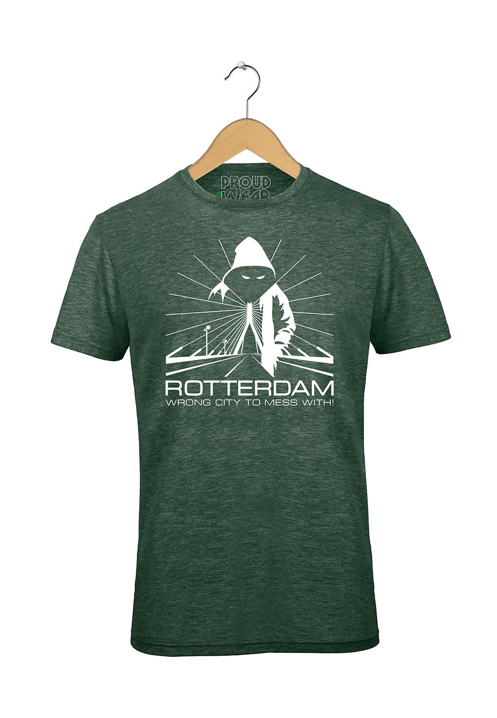 "Rotterdam T-shirt ""Rotterdam wrong city to mess with"""