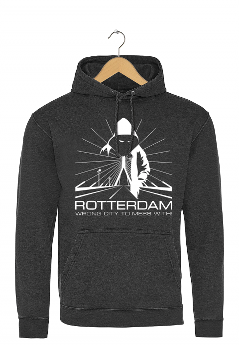 "Rotterdam hoodie ""Rotterdam wrong city to mess with!"""