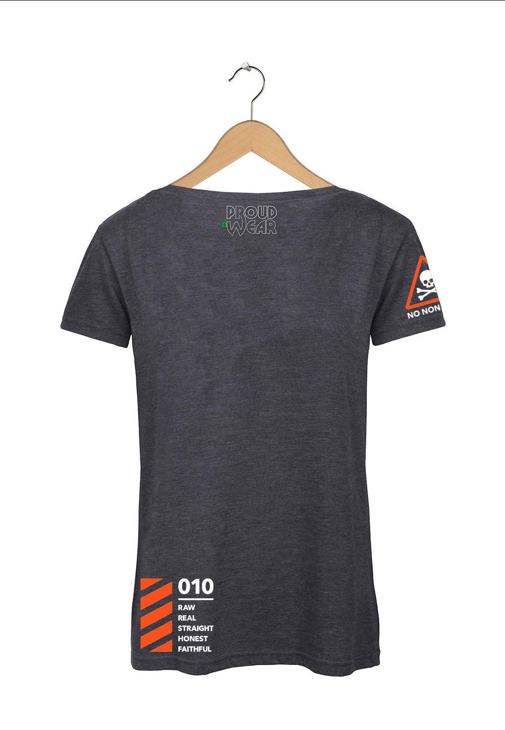"Rotterdam T-shirt ""Rotterdam Attitude"" Donkergrijs Achterkant"