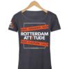 "Rotterdam T-shirt ""Rotterdam Attitude"" Donkergrijs Voorkant"