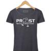 """Rotterdam T-shirt """"010Proost"""" Donkergrijs"""