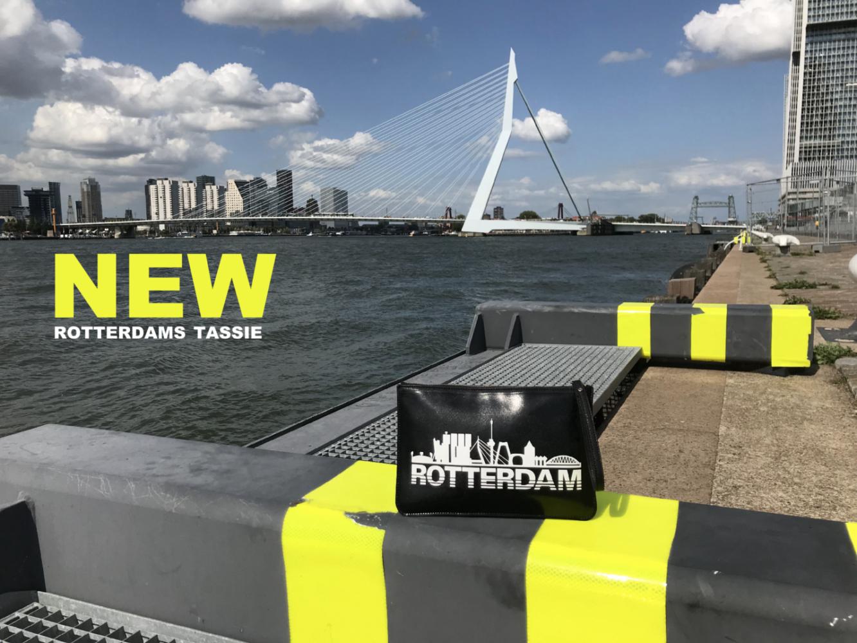 "NEW Rotterdams Tassie ""Rotterdam Skyline"" voorkant"